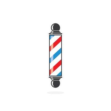 barber pole  icon logo vector icon