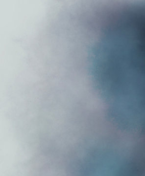 Abstract fog background. Pastel color with blue and gray mist, smoke.