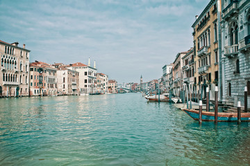 Wall Mural - View of the Grand Canal in Venice, Italy in winter