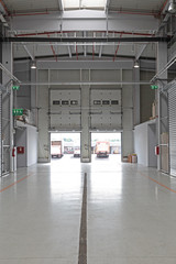 Long Corridor Warehouse Building