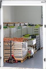 Pallet Jack Crates Produce Load
