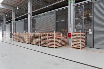Distribution Warehouse Tomato Pallets