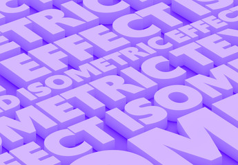 Isometric Deep Text Effect Mockup