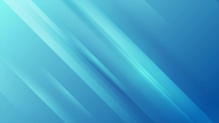 Fotobehang - Bright blue shiny stripes abstract concept motion background. Seamless looping. Video animation Ultra HD 4K 3840x2160