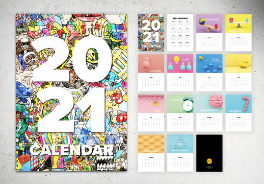 Adobe Indesign Calendar Template 2021 Wallpaper