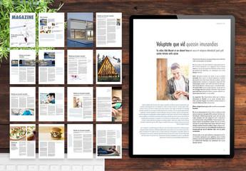 Minimalist Digital Magazine Layout