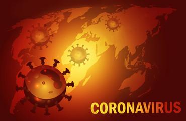 3d rendering illustration of a Covid 19 disease spread worldwide