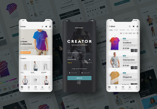 E-Commerce Ui Layout Kit Clothing Store App