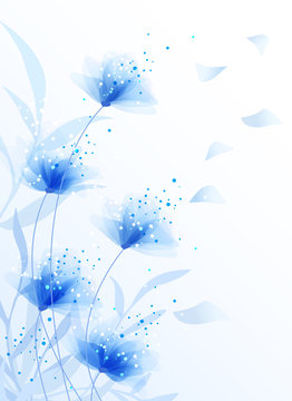 vector background with Flowers 978