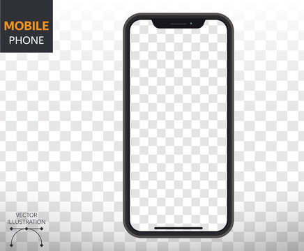 Smartphone Mockup  with Blanc Display Isolated Templates. Vector Style for Websites and Apps