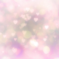 pink bokeh background with hearts
