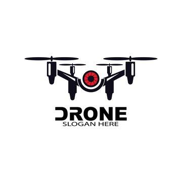 drone logo template vector icon. photography drone vector. quad copter vector icon