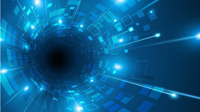 abstract digital tech sci fi tunnel speed movement loading concept design background