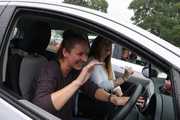 Audience members enjoy a drive-in concert amidst the easing of the coronavirus disease (COVID-19) restrictions in Sydney