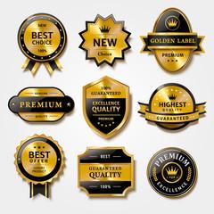 Label set for premium products