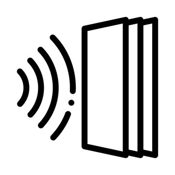 sound heading for door icon vector. sound heading for door sign. isolated contour symbol illustration