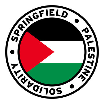 Round Springfield Palestine Solidarity Flag Clipart