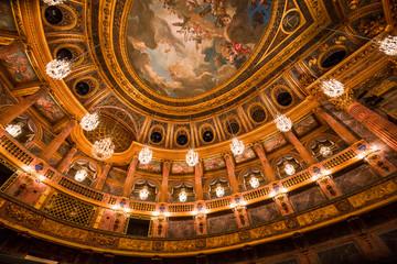Interiors of the royal opera, Versailles, France