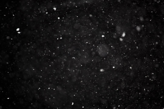 Snowflakes on black background overlay