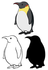Set of penguin cartoon