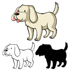 Keuken foto achterwand Kids Children dog coloring worksheet
