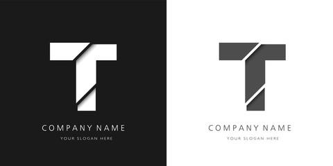 Fototapeta t logo modern letter broken design obraz