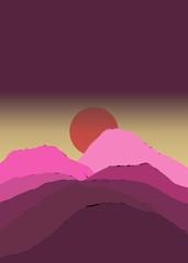 Minimalist Sunset Art,Minimalist Sunset Artwork,Minimalist Sunset Home Print,Minimalist Sunset Home Decor Wall Art,Landscape Art
