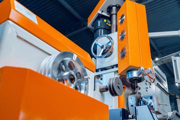 Photo sur Toile Pays d Asie Modern industrial plant. Automotive machine equipment parts close up
