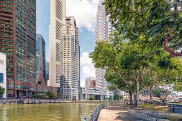 Fototapete - Singapore city in daytime