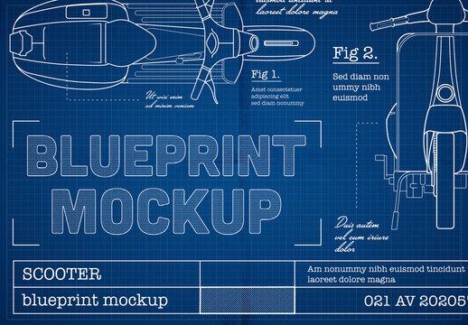 Blueprint Sketch Mockup
