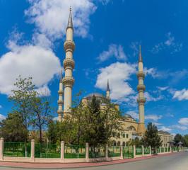 Ertugrul Gazi Mosque in Ashgabat, capital of Turkmenistan