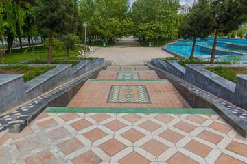 Park in Ashgabat, capital of Turkmenistan.
