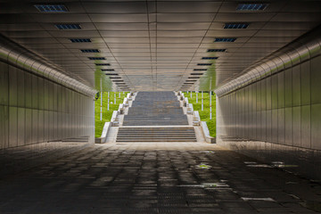 Pedestrian underpass in Ashgabat, capital of Turkmenistan