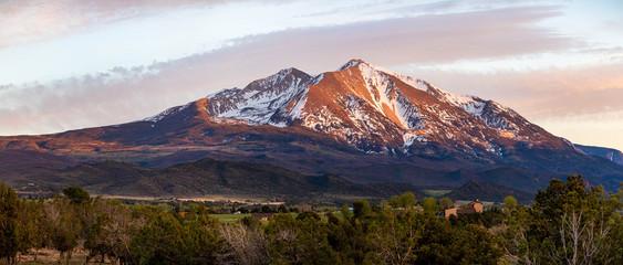 Fototapeta Beautiful view of mountain Sopris Aspen Glen Colorado obraz