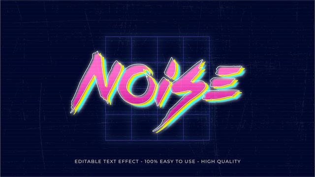80s retro editable text effect