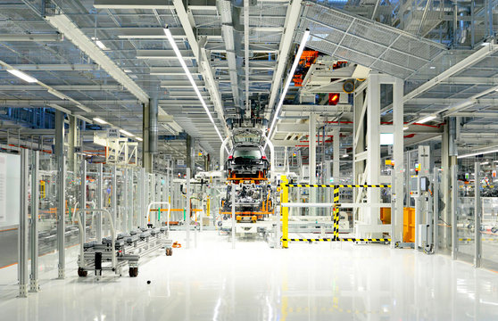 Production of cars in a factory