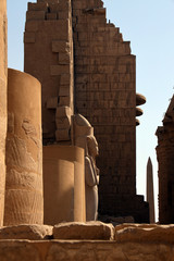 Spoed Fotobehang Historisch mon. Colossus of Ramesses II, Karnak Temple, UNESCO World Heritage Site, near Luxor, Thebes, Egypt, North Africa, Africa