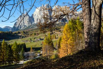 Autumn Cortina d'Ampezzo environs, Italy Dolomites