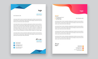 Simple creative modern letter head templates for your project design, Vector illustration