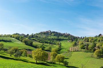 Italien, Toscana, Volterra, Zwischenstopp in der Nähe von Volterra