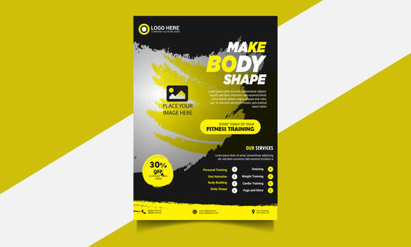 Unique Fitness Flyer Design Template