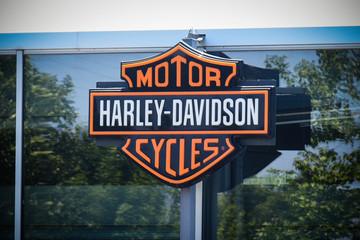 harley davidson signboard
