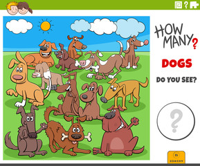 how many dogs educational task for children