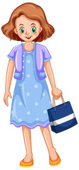 Photo sur cadre textile Jeunes enfants Young lady with shopping bag