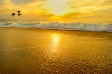 Wall Mural - Ocean Sunset Painting