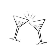 A martini glasses illustration.