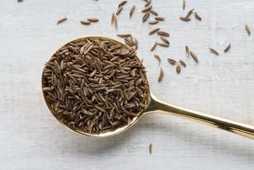 Fototapeta Close-up Of Caraway Seeds On Table obraz