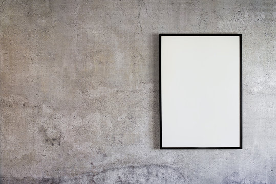 Empty Frame On Concrete Wall