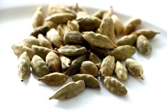 Close-up Of Cardamoms In Plate