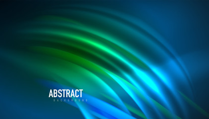 Fluid wave lines background. Trendy abstract layout template for business or technology presentation, internet poster or web brochure cover, wallpaper Wall mural